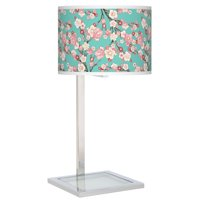 Giclee Gallery Cherry Blossoms Glass Inset Table Lamp
