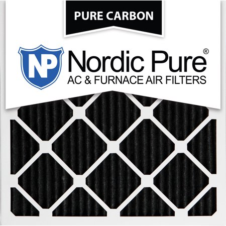 18x18x1 pure carbon pleated ac furnace air filters qty 3 - walmart.com