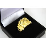 10K Solid Yellow Gold Small Medium Large Nugget Ring Sizes 6-13