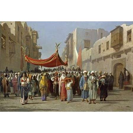 An Arab Wedding Procession Poster Print by  Vincenzo Marinelli](Wedding Procession)