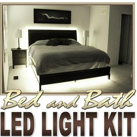 - Biltek 16.4' ft Warm White Bath Tub Sink Mirror LED Strip Lighting Complete Package Kit Lamp Light DIY - Headboard Closet Make Up Counter Mirror Light Lamp Waterproof 3528 SMD Flexible DIY 110V-220V