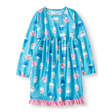 Toast & Jammies Girls Long Sleeve Nightgown