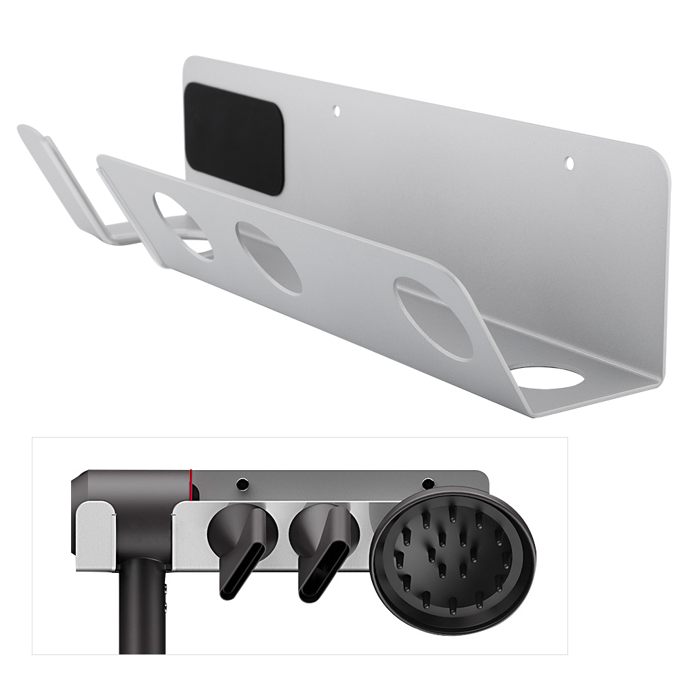 suitable for families stainless steel hair rack Wall-mounted hair dryer bracket hair dryer holder