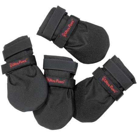 Ultra Paws & reg: Durable Dog Boots Black,