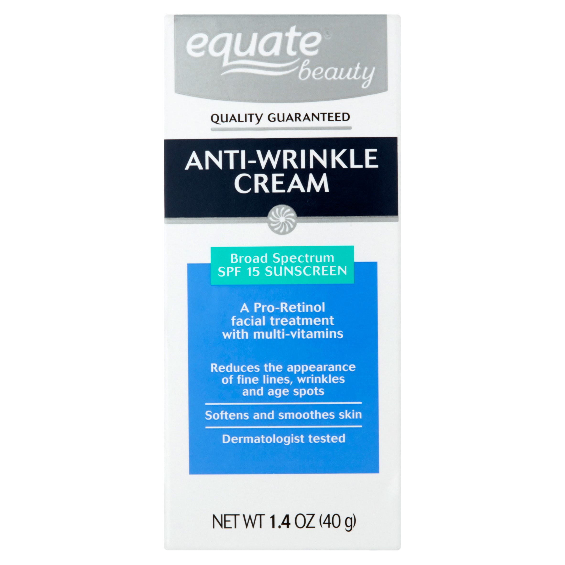 Equate Anti-Wrinkle Cream SPF 15, 1.4 Oz