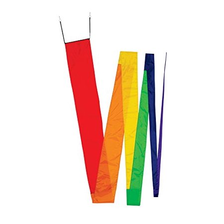 In the Breeze Rainbow Streamer Kite Tail, 32' (Kite Tails)