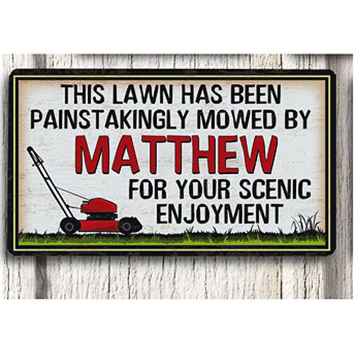 Personalized Metal Sign, Lawn