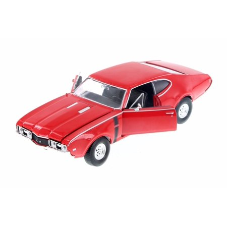 1968 Oldsmobile 442, Red - Welly 24024WR - 1/24 Scale Diecast Model Toy Car