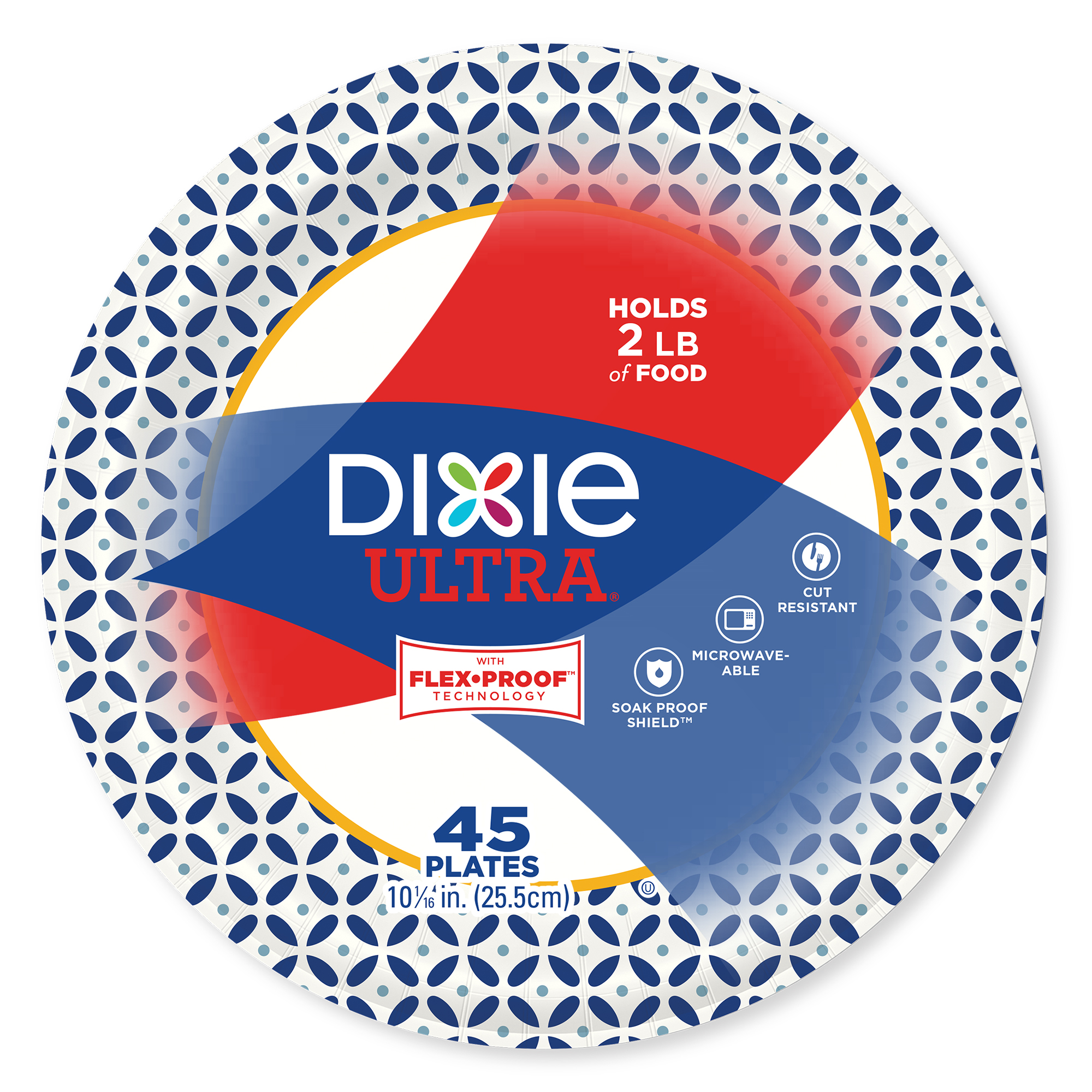 """Dixie Ultra Paper Plates, 10 1/16"""", 45 Count"""