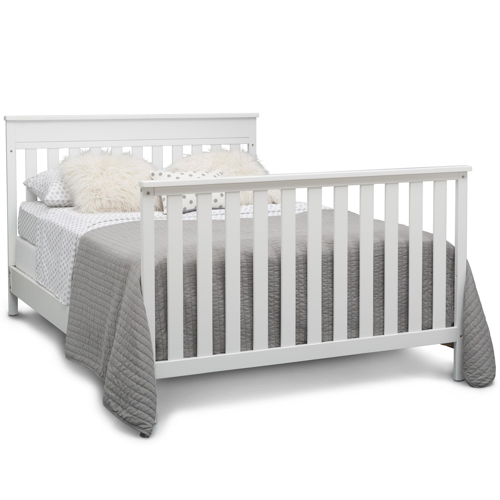 Delta Children Kingswood 4 In 1 Convertible Baby Crib Bianca White Walmart Com Walmart Com
