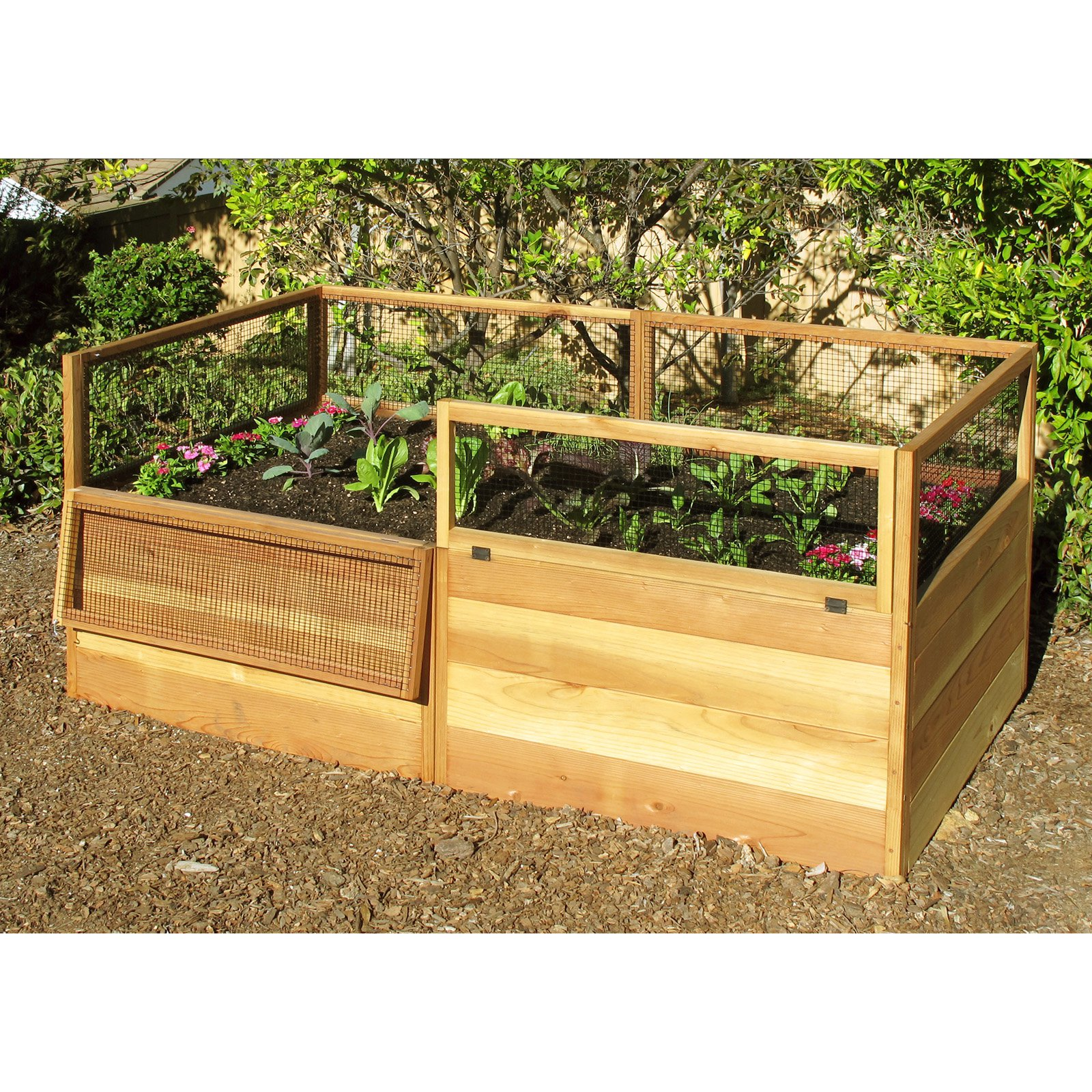Gardens to Gro 3 x 6 ft. Raised Vegetable Garden Bed with Hinged Fencing on raised bed garden materials, gardening containers, large plastic garden containers, plastic raised garden containers, growing vegetables in containers, raised garden bed construction, raised garden kits, plans for raised garden containers, companion planting vegetables in containers, vegetable plants in containers, raised garden bed table, raised flower bed kits, raised planter beds, raised deck garden box, raised garden beds from pallets, raised garden bed corners, raised bed garden layouts, trailing plants for containers, recycled garden containers, growing zucchini in containers,