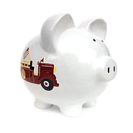 Child To Cherish - Large Piggy Bank - Fire Truck