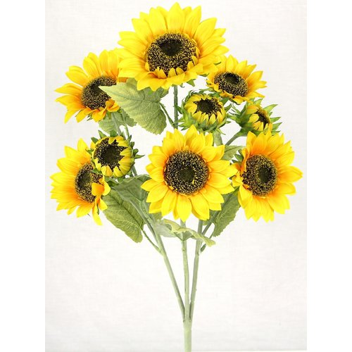 August Grove 3 Stems Artificial Blooms Sunflower Floral Arrangement