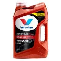 Valvoline High Mileage with MaxLife Technology SAE 10W-30 Synthetic Blend Motor Oil, Easy-Pour 5 Quart