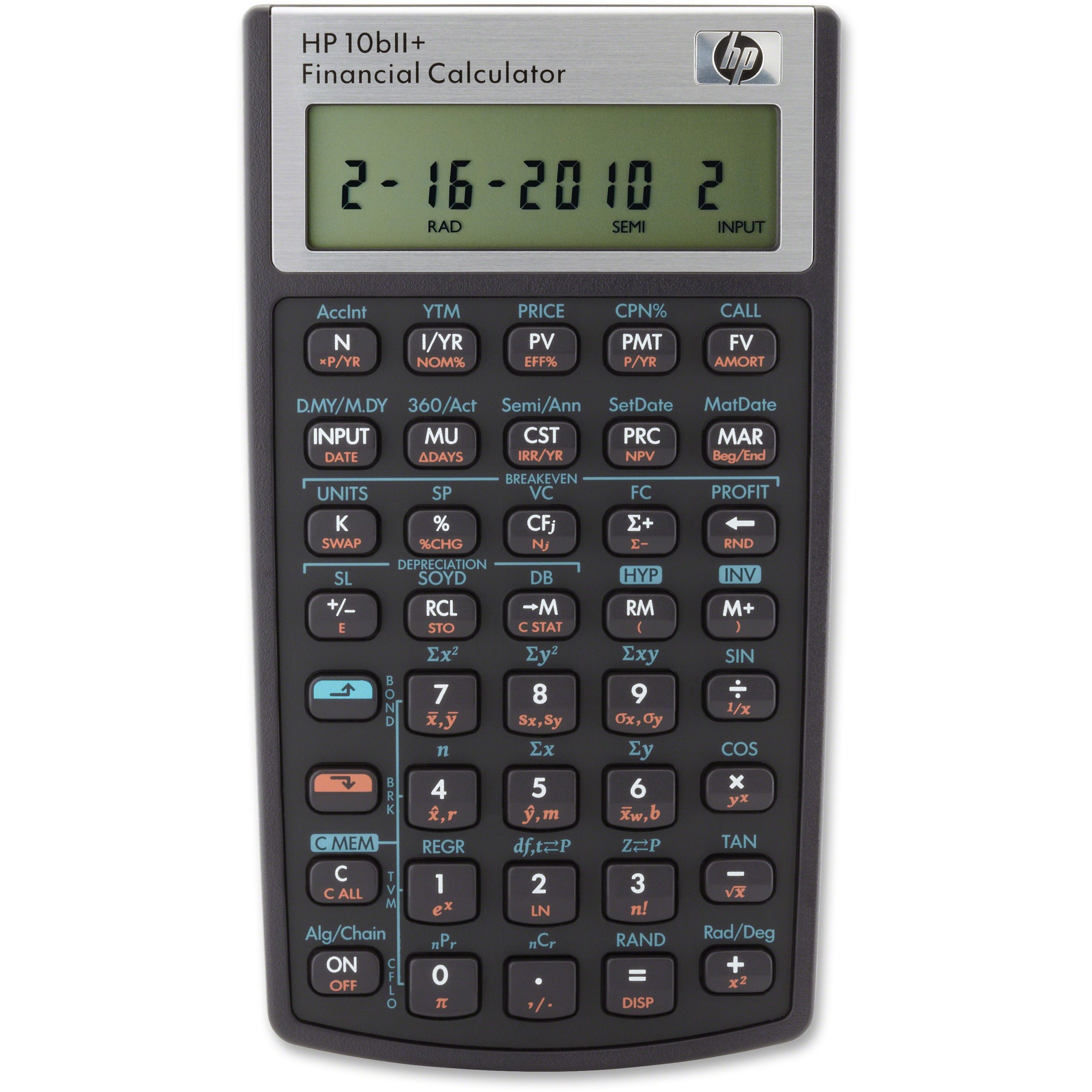 HP 10BIIPlus Financial Calculator, 1 Each (Quantity)