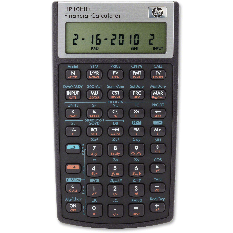 HP, HEW10BIIPLUS, 10BIIPlus Financial Calculator, 1 Each