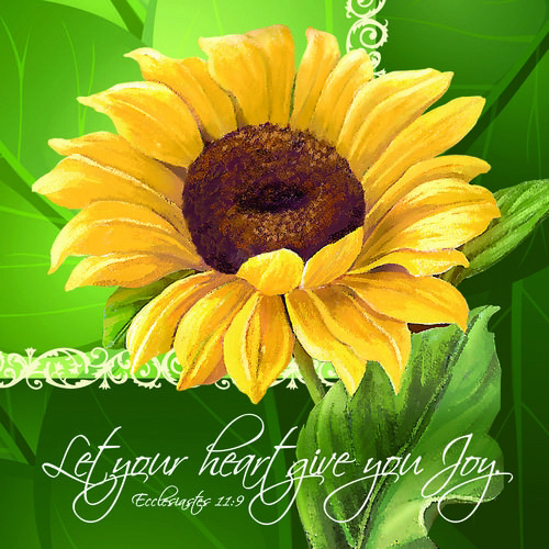 "Napkin-Everyday: Sunflower Joy (6.5"" X 6.5"")-1 Package Containing 20 Napkins"