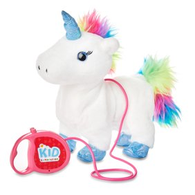 Kid Connection Walking Pet Unicorn with Sound, Rainbow, 9""