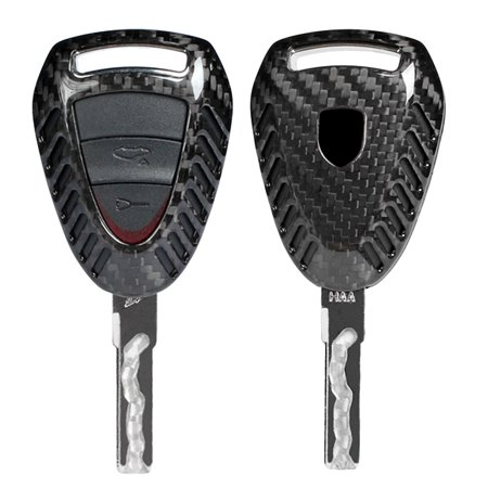 Gzyf 1pc Genuine Carbon Fiber Car Remote Key Case For Porsche Boxter