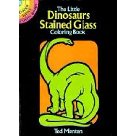 Dover Stained Glass Coloring Book: The Little Dinosaurs Stained Glass Coloring Book (Paperback)](Stained Glass Coloring Pages)