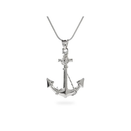 Ahoy! Sterling Silver Anchor Pendant - Clearance Final Sale