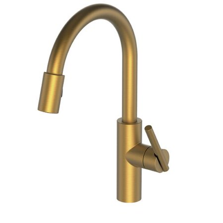 Newport Brass East Linear Pull Down Touch Single Handle Kitchen Faucet