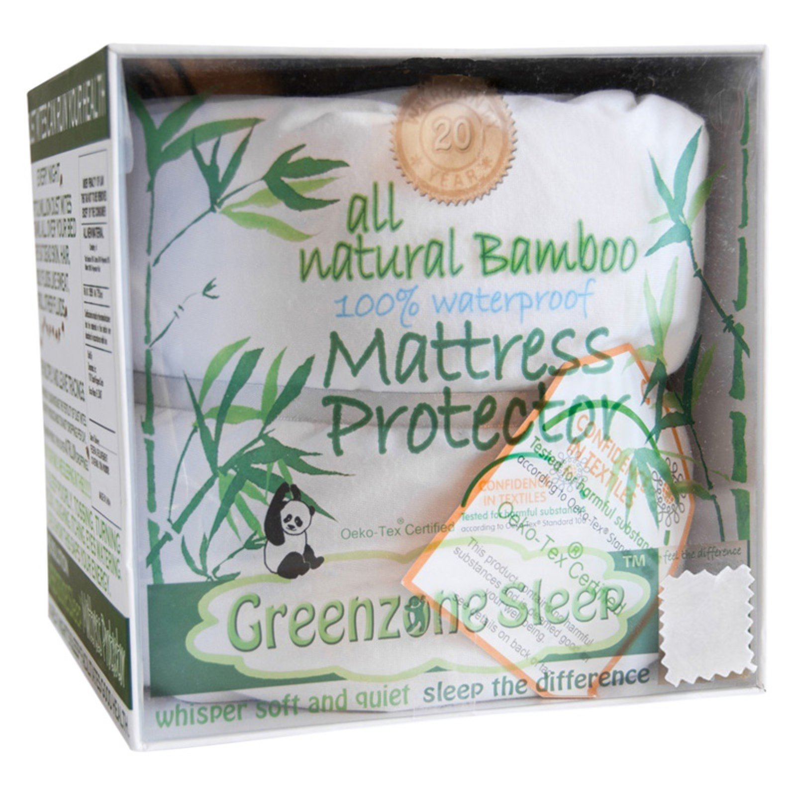 Bamboo Viscose Jersey Mattress Protector with King Pillow Protectors by Dreamtex Home