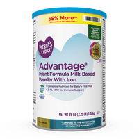 Parent's Choice Advantage Non-GMO* Infant Formula Milk-Based Powder with Iron, 36 oz