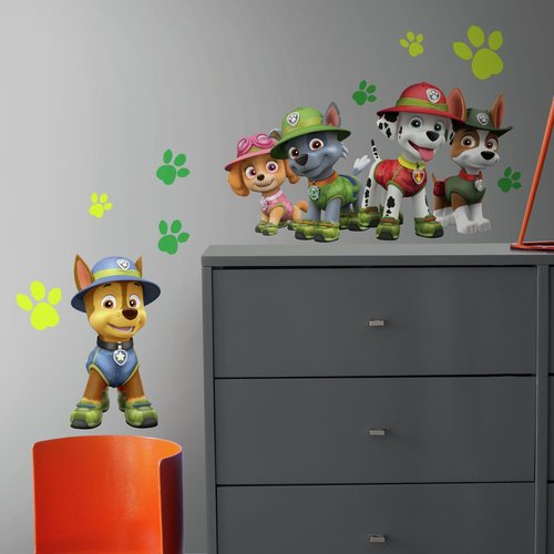 Paw Patrol Jungle Peel And Stick Giant Wall Decals