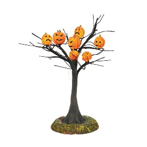 Cross Product Halloween SCARY PUMPKINS LIT TREE