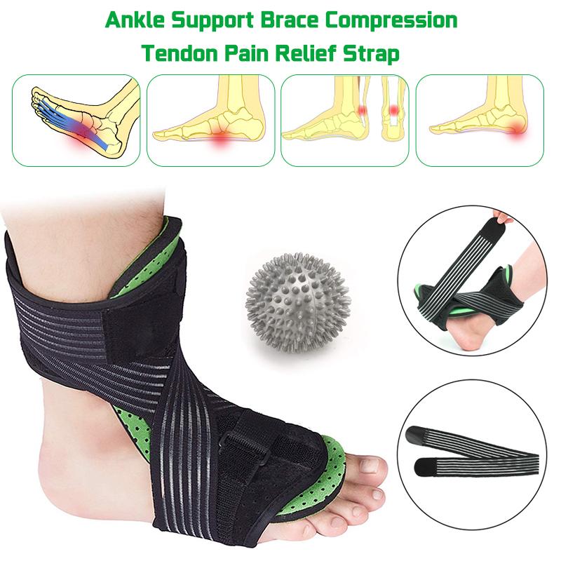 Ankle Support Brace Compression Tendon Pain Relief Strap Foot Sprains  Injury Wrap Ankle Braces - Walmart.com - Walmart.com