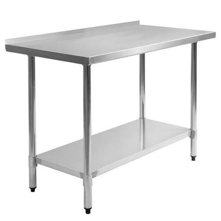 39 39 stainless steel work prep table with backsplash kitchen restau