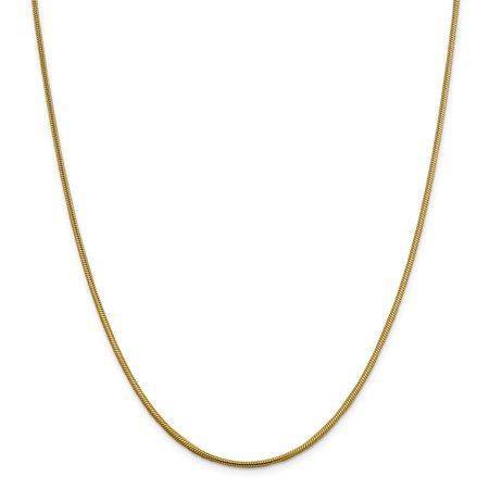 14k 2.2mm Round Snake Chain Necklace - Lobster Claw - Length: 16 to 30 Ugg Womens Diamond