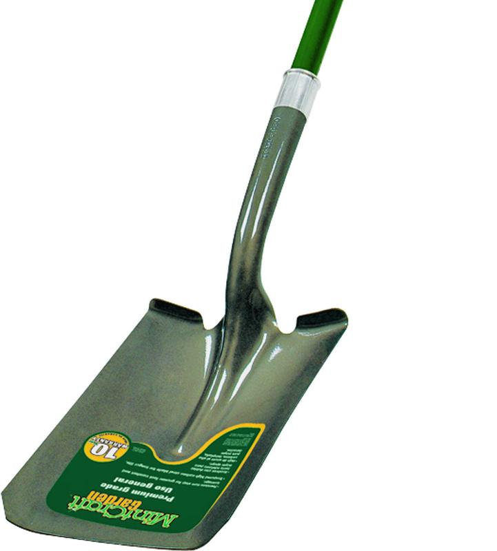 Mintcraft Shovel, 47 in Fiberglass Long, Ergonomic, Crimped Collar Handle, Lacquered and Tumble
