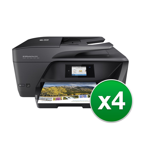 HP OfficeJet Pro 6968 AllinOne Printer (4-Pack) OfficeJet Pro 6968 All-in-One Printer by HP