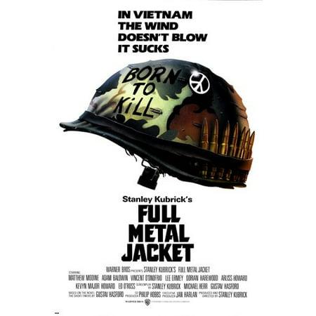 Kubrick'S Full Metal Jacket Movie Poster Vietnam War Matthew Modine -