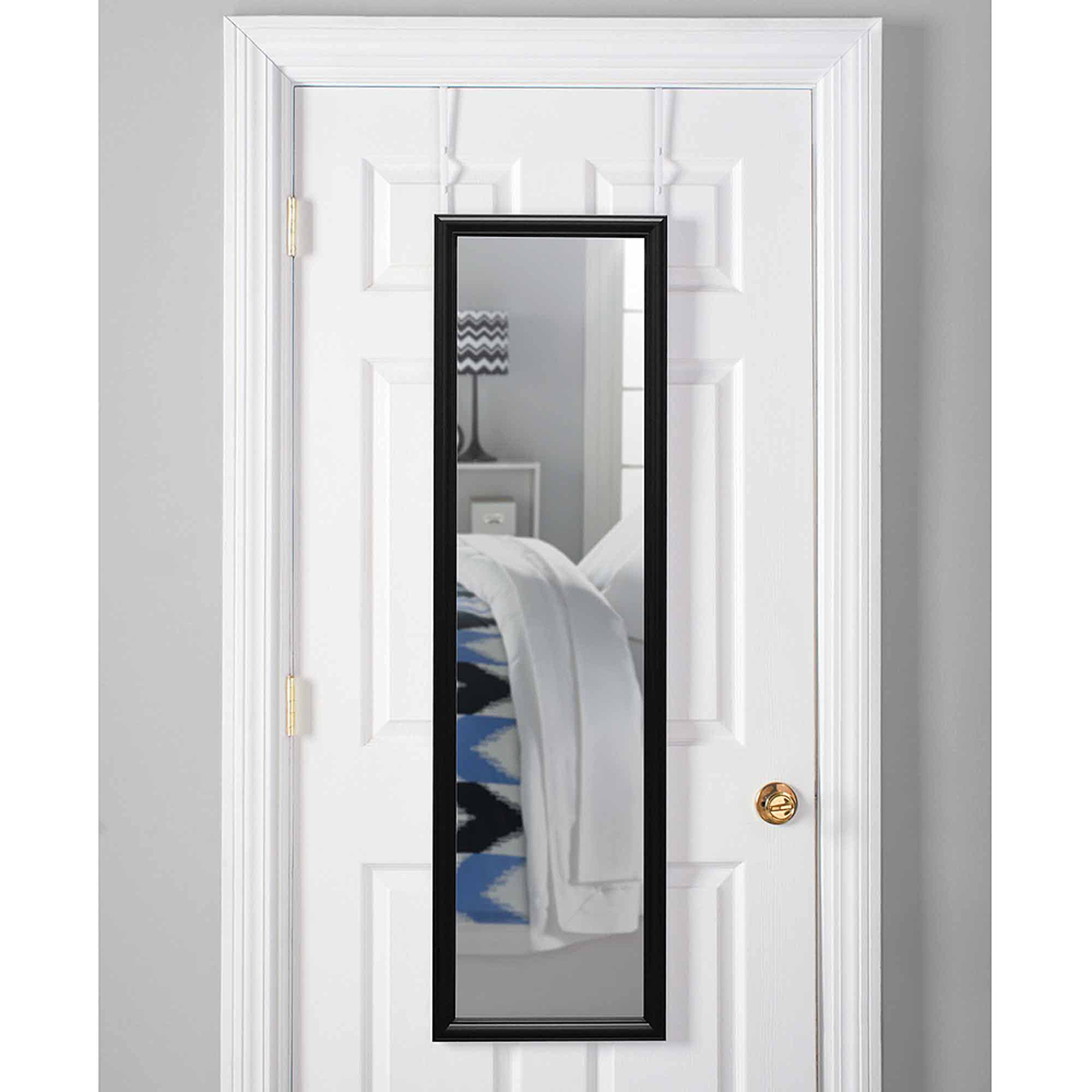 Over The Door Mirror Walmart.Mainstays 15 X 51 Over The Door Mirror White