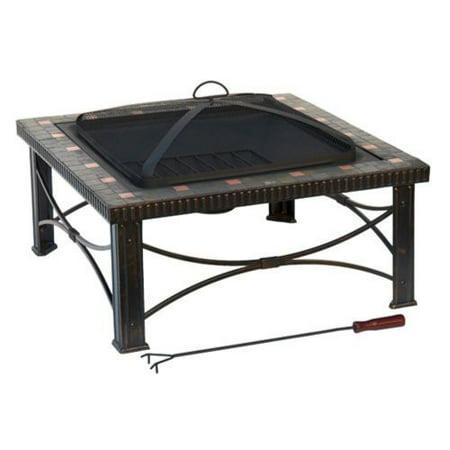 Az Patio Heaters FTB-51161B Hiland 30 in. Square Tile Fire Pit ()