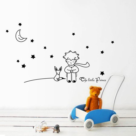 Stars Moon The Little Prince Boy Wall Sticker Home Decor Wall Decals BK