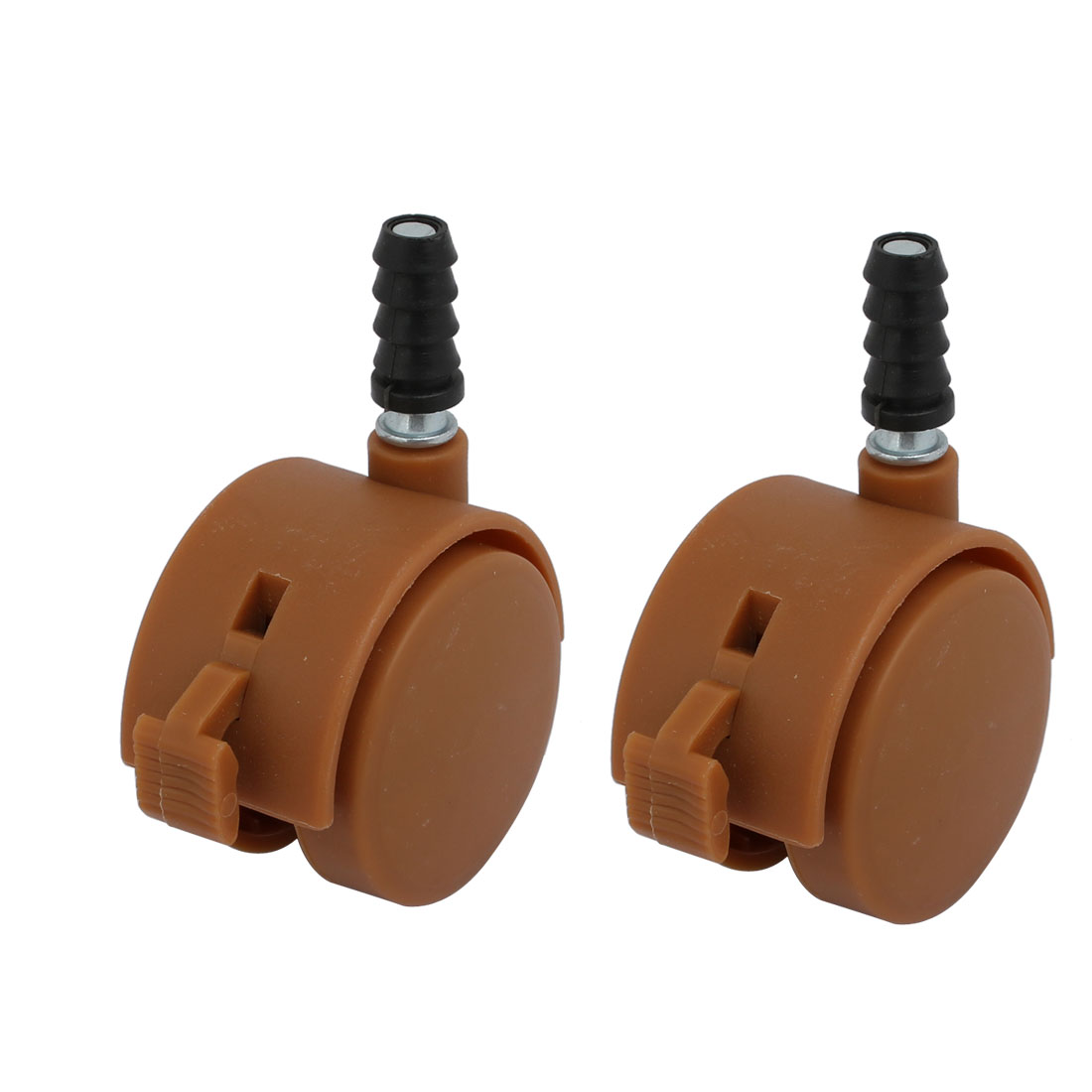 2pcs 2-inch Dia 7mm Stem Swivel Brake Caster Wheel Brown for Crib