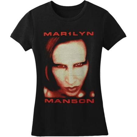 Marilyn Manson  Bigger Than Satan Junior Top Black (Marilyn Manson Halloween Cover)