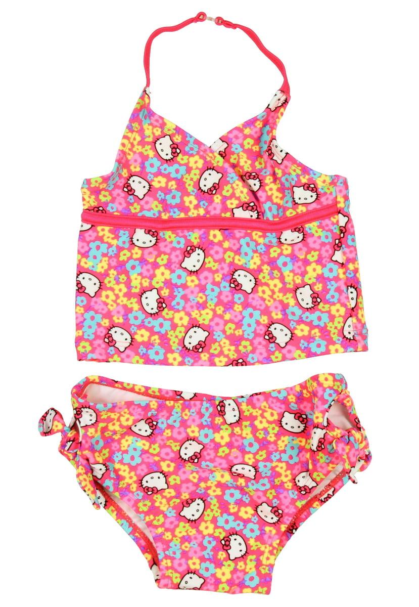 Hello Kitty Tankini Set Little Girls Toddler Swimsuit