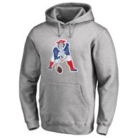 New England Patriots NFL Pro Line Throwback Logo Pullover Hoodie - Gray