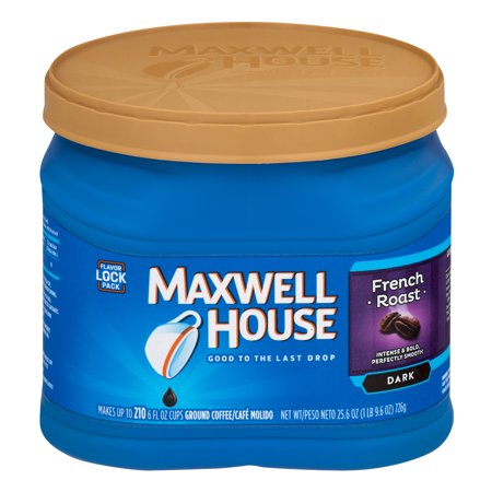Maxwell House Ground Dark Roast Coffee French Roast, 25.6 OZ