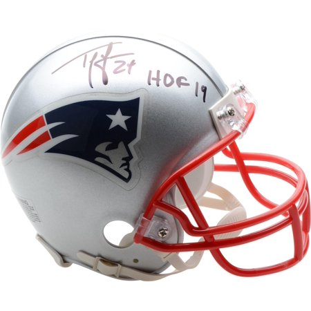 Ty Law New England Patriots Autographed Riddell Mini Helmet with