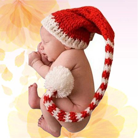 Photo Props Christmas Photograph Prop Baby Infant Knit Crochet hat Warm Newborn Baby - Bulk Christmas Hats