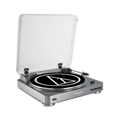 Audio Technica Automatic Stereo USB & Analog Record Player Turntable, Silver