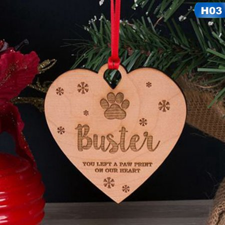 KABOER Acrylic Personalised Dog Cat Pet Memorial Christmas Tree Decoration Bauble Gift ()