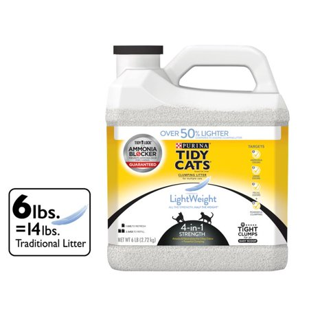 - Tidy Cats LightWeight 4-in-1 Strength Clumping Dust Free Cat Litter - 6 lb. Jug