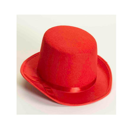 Red Top Hat Halloween Costume Accessory - Top Hat Costume